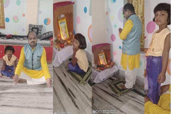MVM Balasore: Gurupurnima celebrated at Maharishi Vidya Mandir Balasore. All other staff members & our students also took part in celebration online at their home.