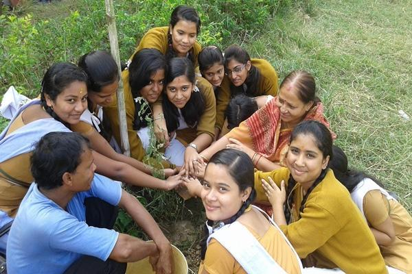 Plantation of Tree By Students.